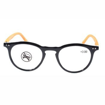 264fc2061e31 Fashionable unisex bamboo reading glasses with oval frame